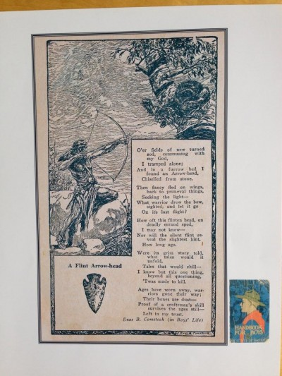 "Among Dr. Coy's many gifts to Henry was a page from Boys' Life, a Boy Scouts handbook from 1936. The poem, ""A Flint Arrow-head', was one of two poems shared by Dr. Coy's family at his funeral. I know that Henry was touched when he realized that Dr. Coy had already shared it with him."